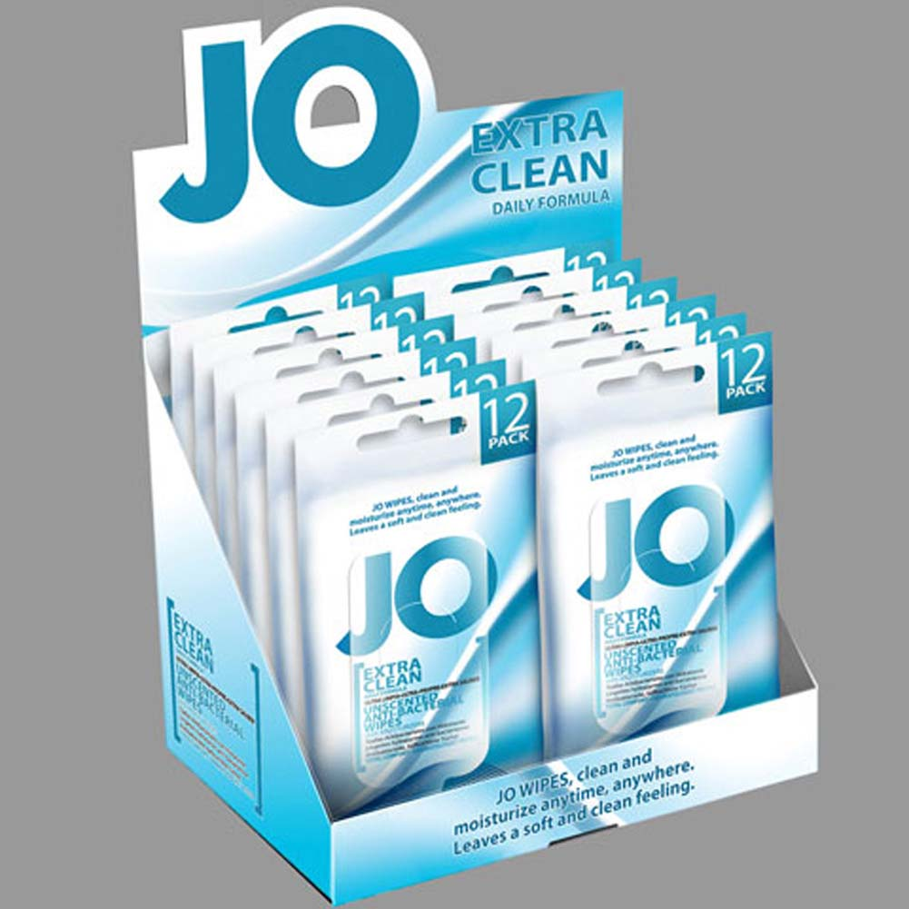 JO Wipes Extra Clean Box of 12 - View #1