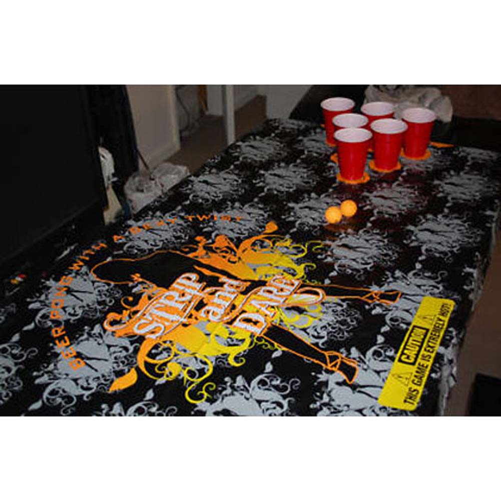 Strip And Dare The Sexiest Portable Beer Pong Table Mat - View #2
