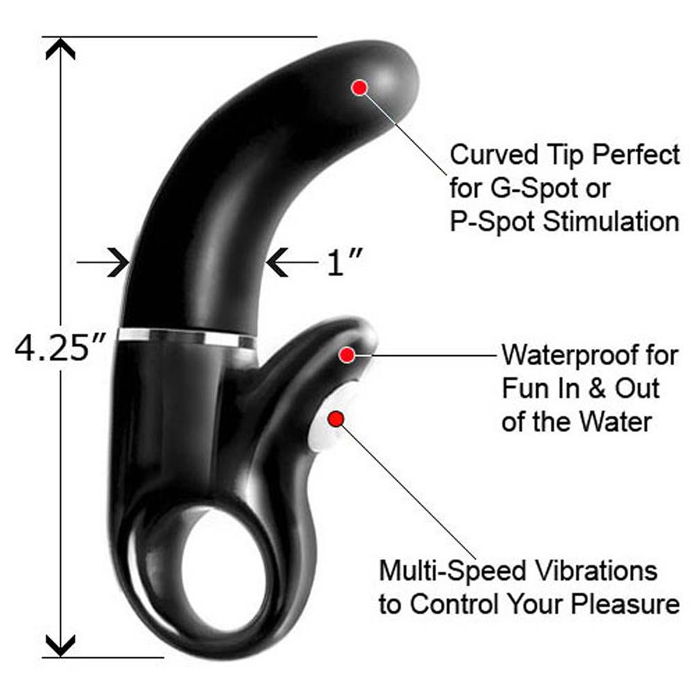 "Le Reve Waterproof G-Spot Mini Vibe 4.25"" Black - View #1"
