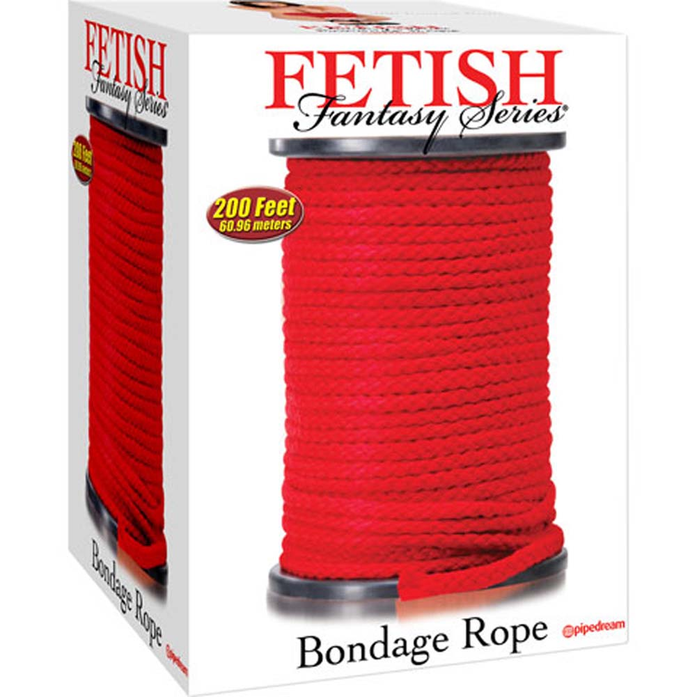 Fetish Fantasy Series Bondage Rope 200 Feet Red - View #4