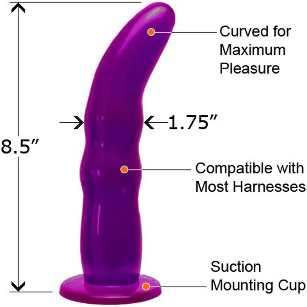 "Fetish Fantasy Grooved G-Spot Strap-On Dong 8.5"" Purple - View #1"