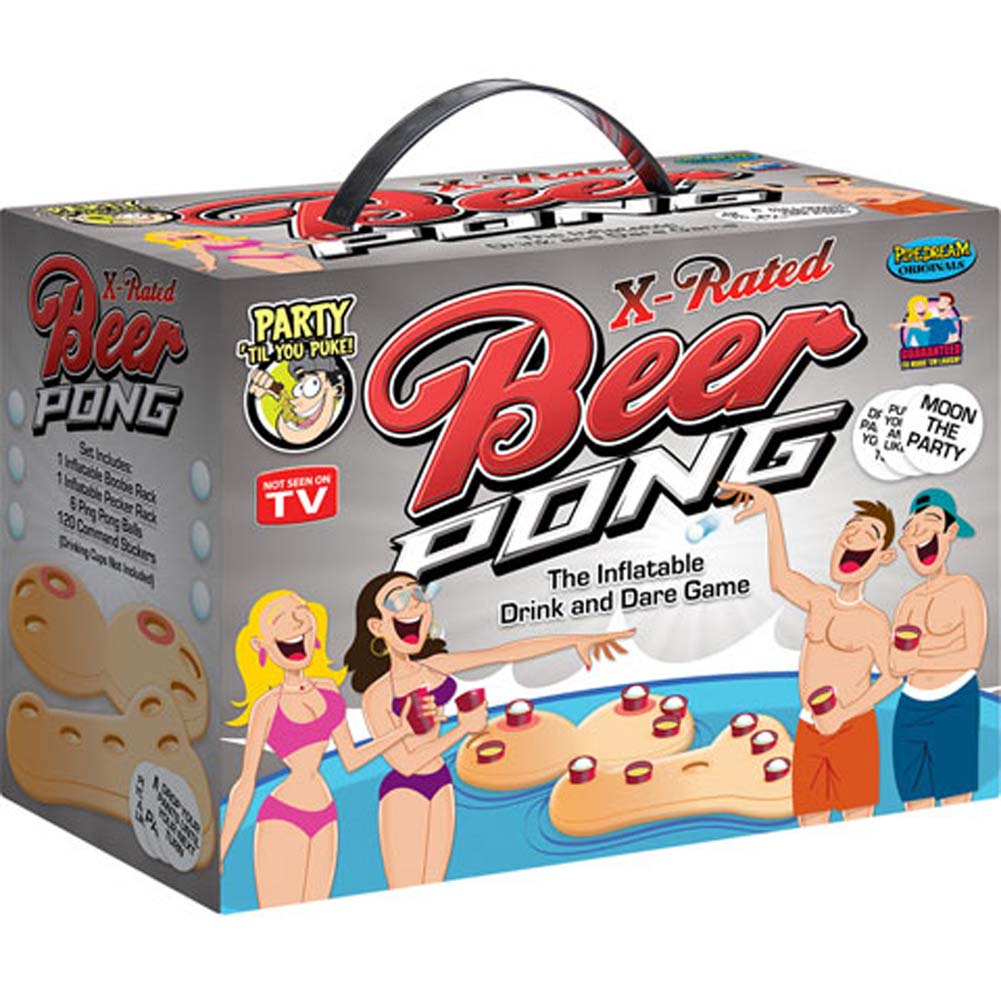 X Rated Beer Pong Inflatable Drinking and Dare Game - View #2