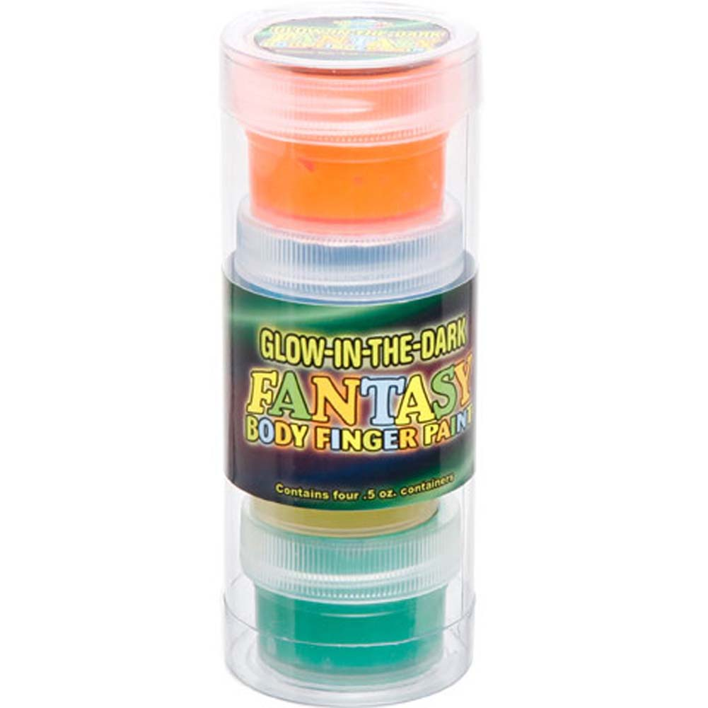 Glow in the Dark Fantasy Body Finger Paint 4 Pack Tube - View #1