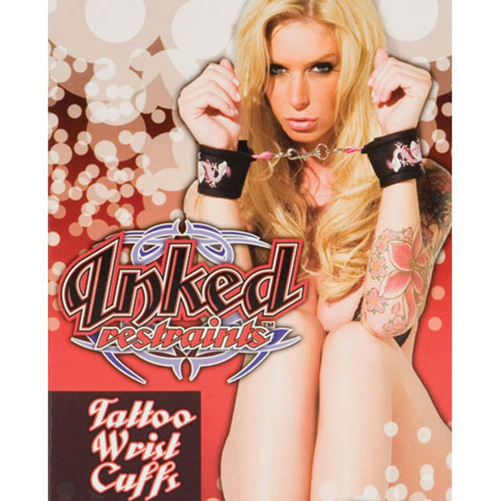 Inked Restraints Tattoo Wrist Cuffs - View #1