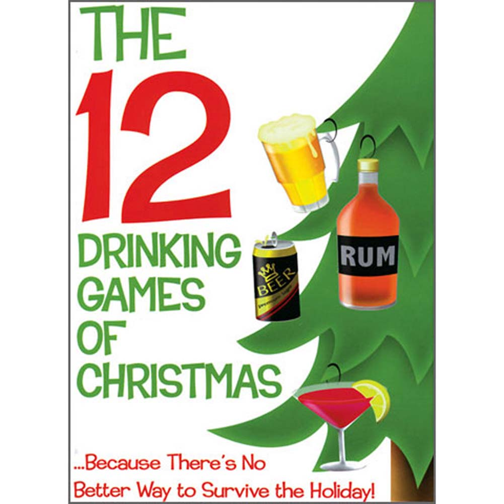 12 Drinking Games of Christmas Holiday Game Set - View #1