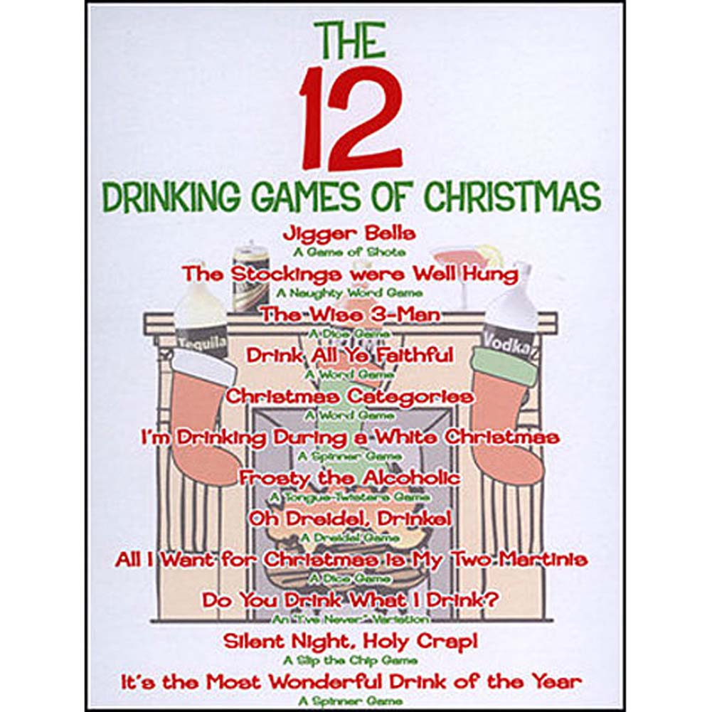 12 Drinking Games of Christmas Holiday Game Set - View #3