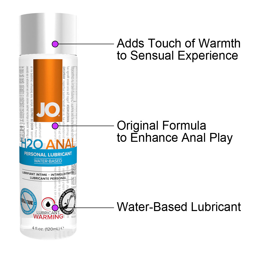 JO Anal H2O Warming Water Based Personal Lubricant 4 Fl Oz 120 mL - View #1