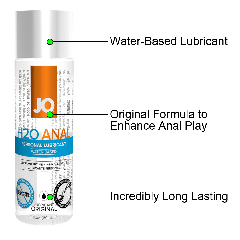 JO H2O Anal Original Water Based Personal Lubricant 2 Fl Oz 60 mL - View #1