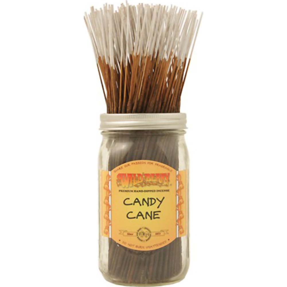 Wild Berry Incense Candy Cane 100 Sticks Count Bundle - View #1