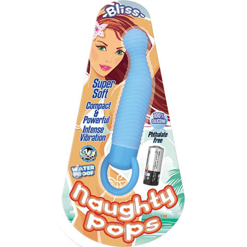 Naughty Pops Bliss Waterproof Silicone Vibe Blue - View #1