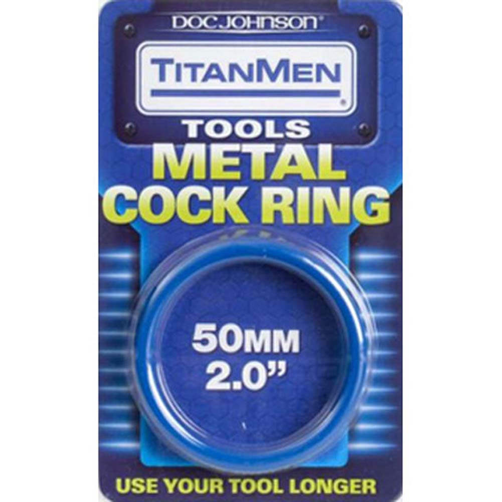 "TitanMen Metal Cockring 2"" 50 Mm Blue - View #2"