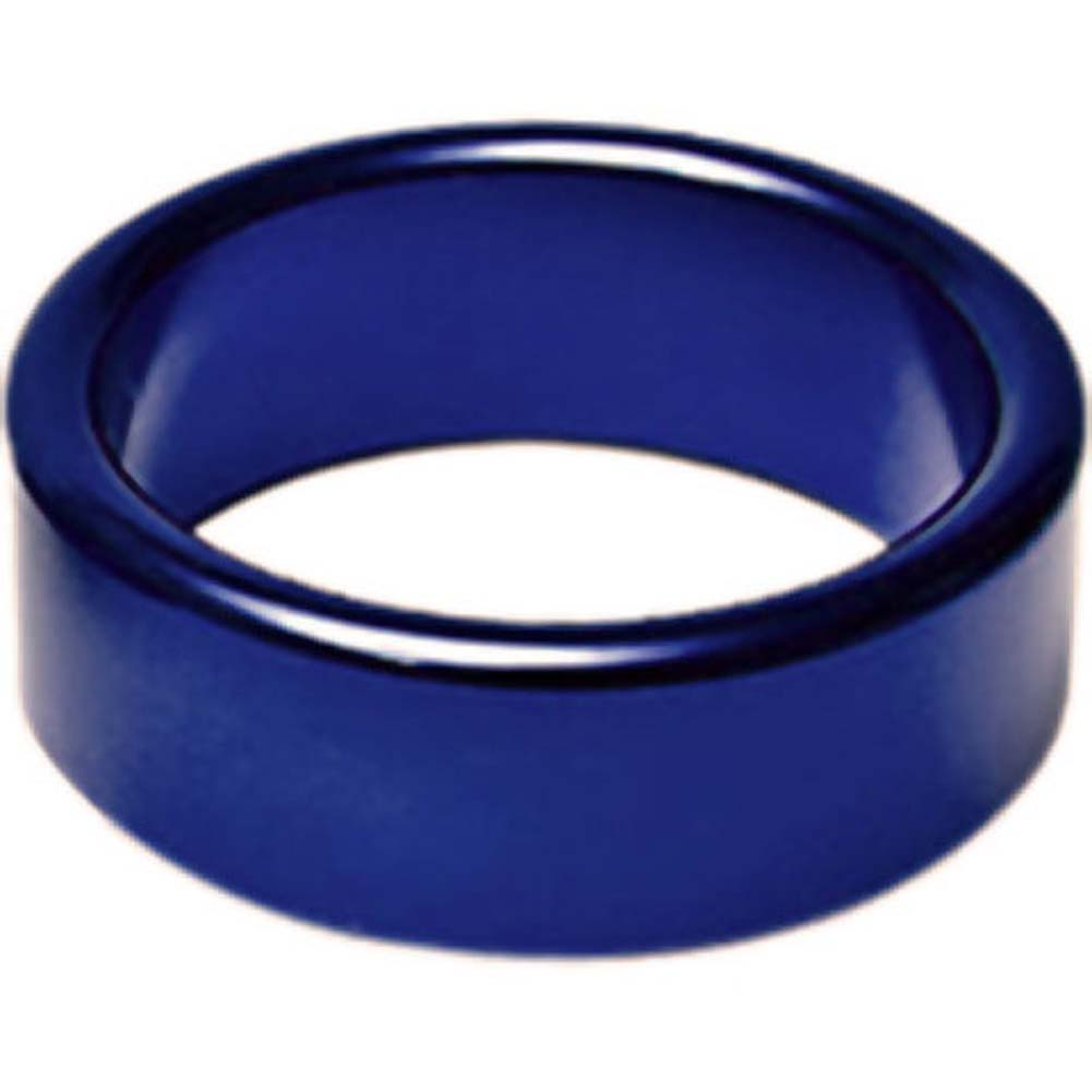 "TitanMen Xtra Thick Metal Cockring 1.75"" 45 Mm Blue - View #1"