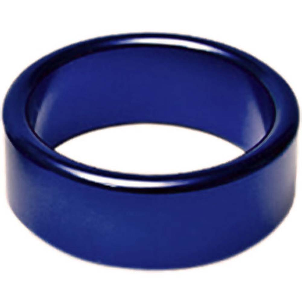 "TitanMen Xtra Thick Metal Cockring 2"" 50 Mm Blue - View #1"