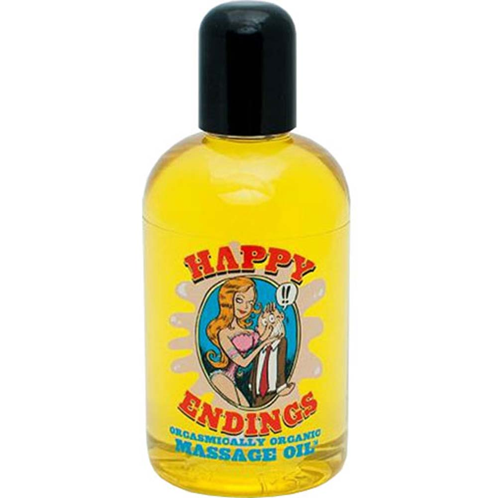 Happy Endings Original Orgasmically Organic Massage Oil 4 Oz - View #1