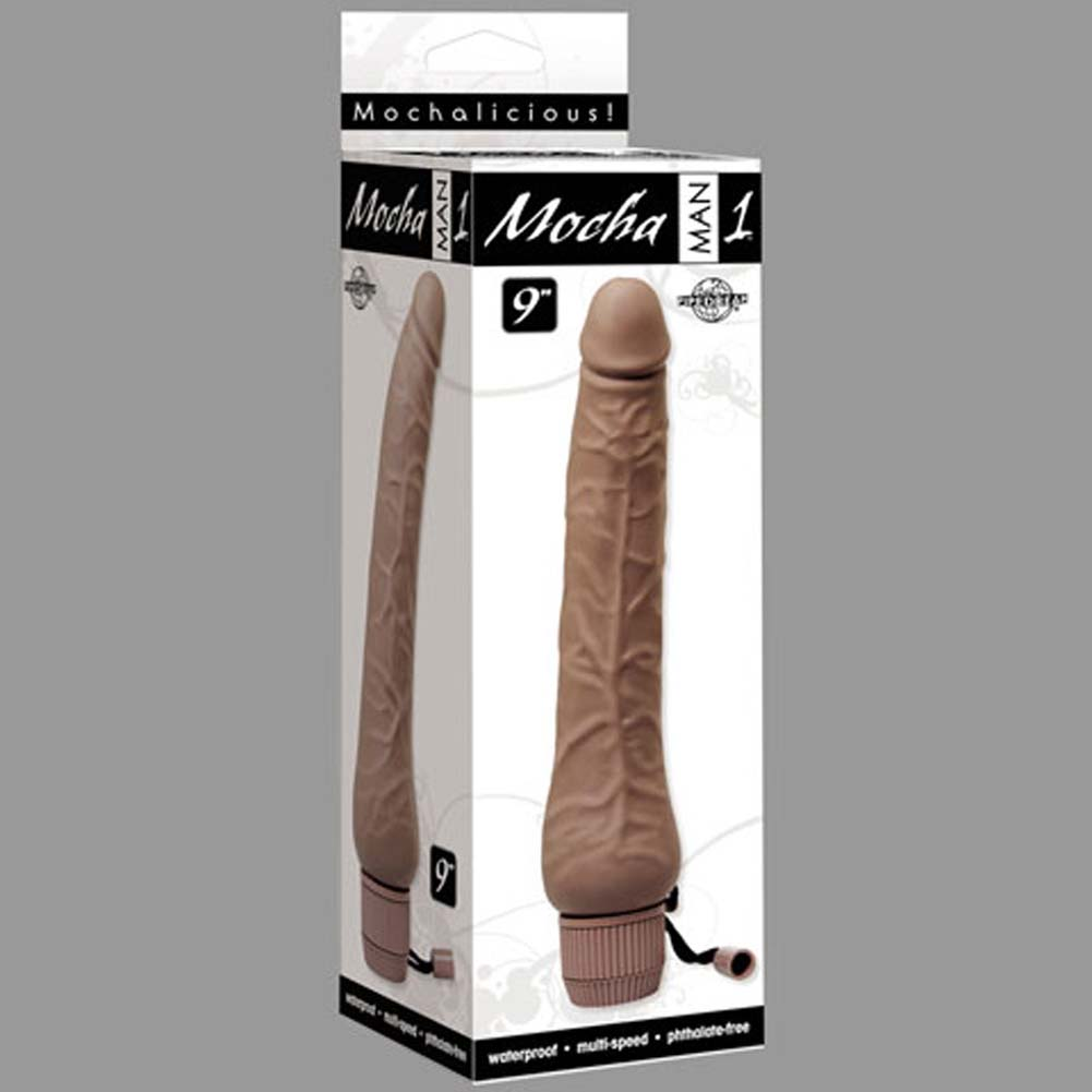 "Mocha Man Number 1 Waterproof Vibe 9"" - View #3"