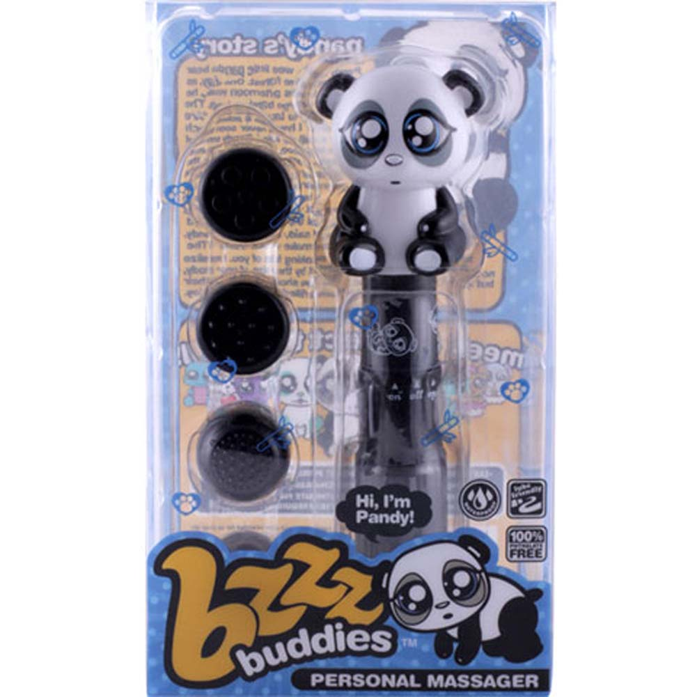 Bzzz Buddies Pandy Vibrator with 4 Interchangeable Tips - View #4