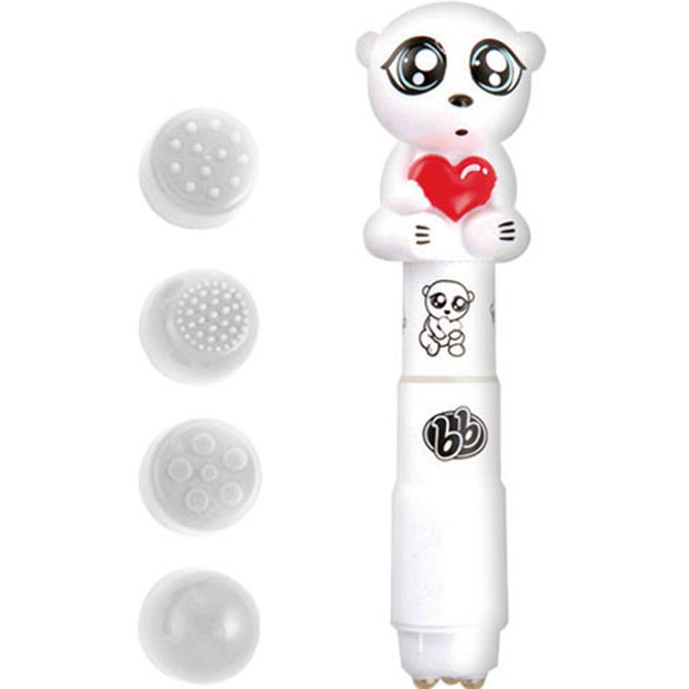 Bzzz Buddies Shivers Vibrator with 4 Interchangeable Tips - View #1