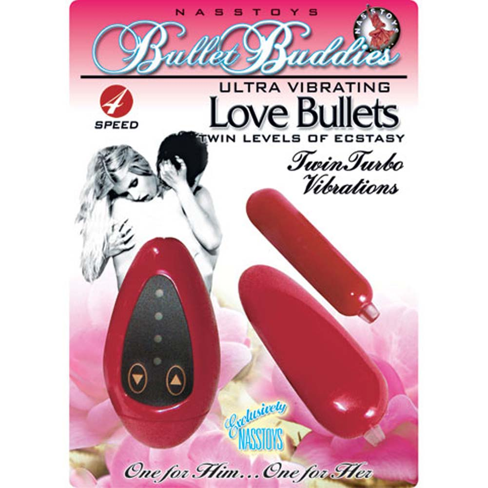 Bullet Buddies Ultra Vibrating Love Bullets Red - View #4