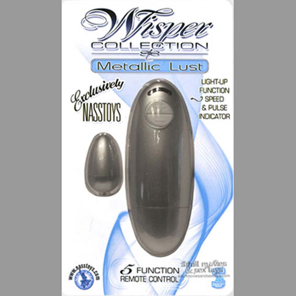Wisper Collection Metallic Lust Waterproof Vibe Silver - View #2