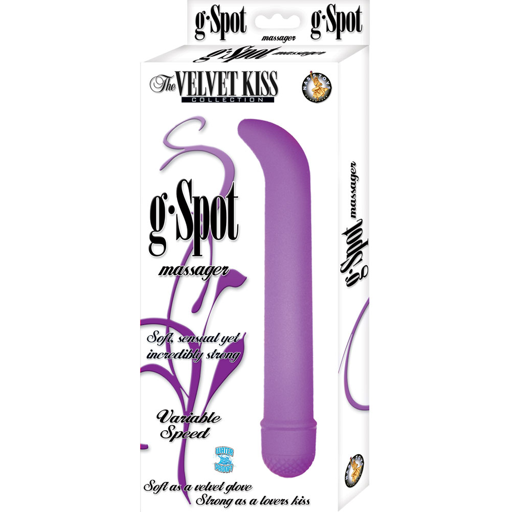 Velvet Kiss Collection Vibrating G-Spot Massager Purple - View #1