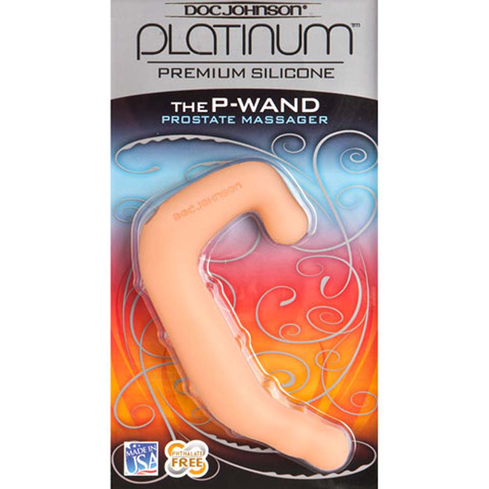 "Platinum Silicone P Wand Prostate Massager 5.5"" Natural - View #2"