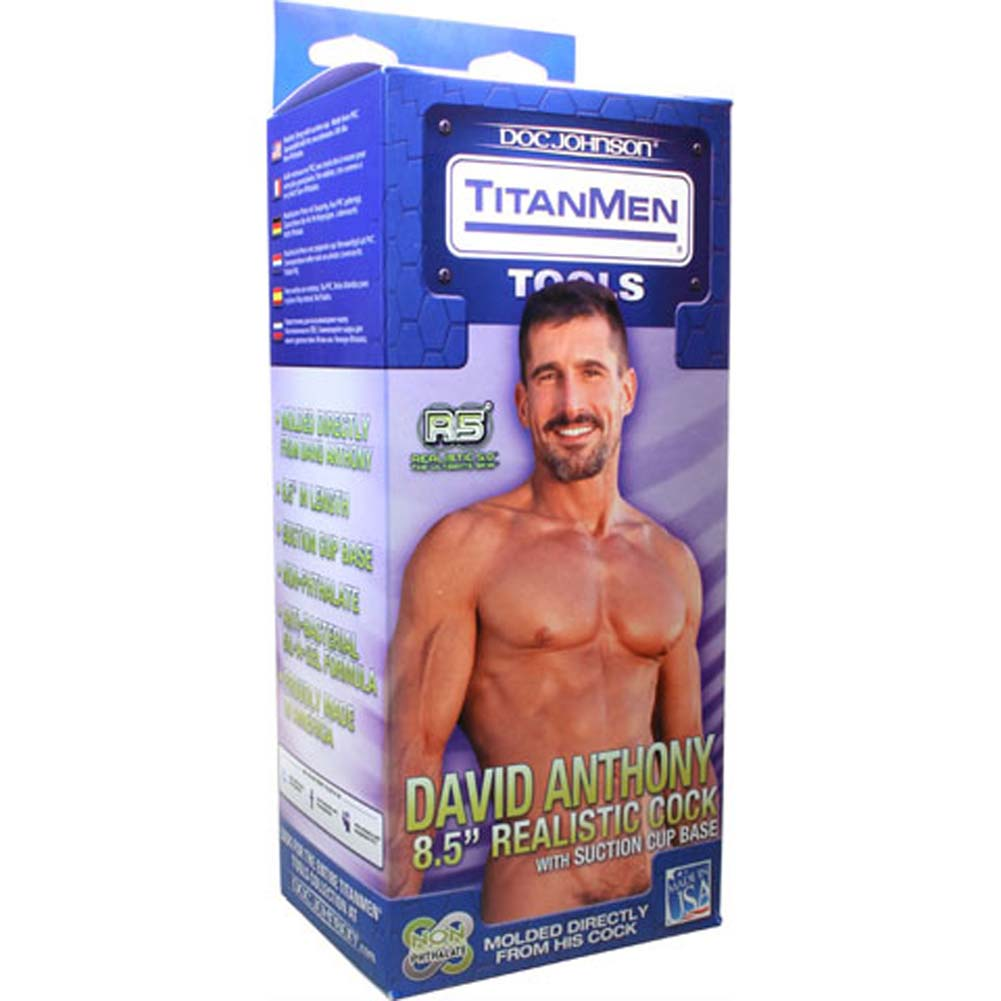"TitanMen David Anthony Realistic Cock 8.5"" Natural - View #3"