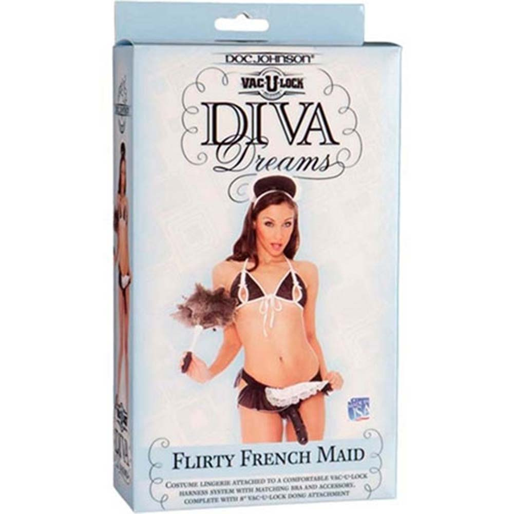 Vac-U-Lock Flirty French Maid Costume with Dong - View #4