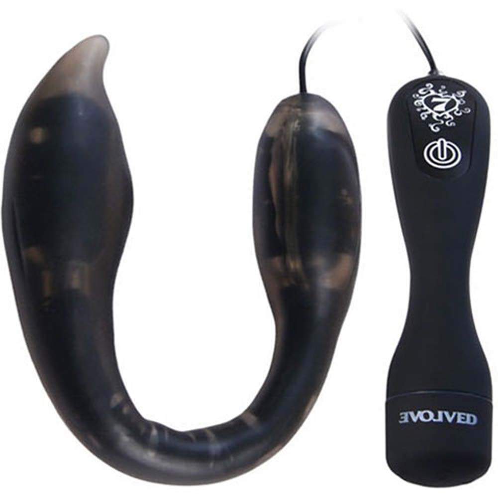 Bendable You Too Prostate Massager - Vibrating Butt Plug Black - View #3