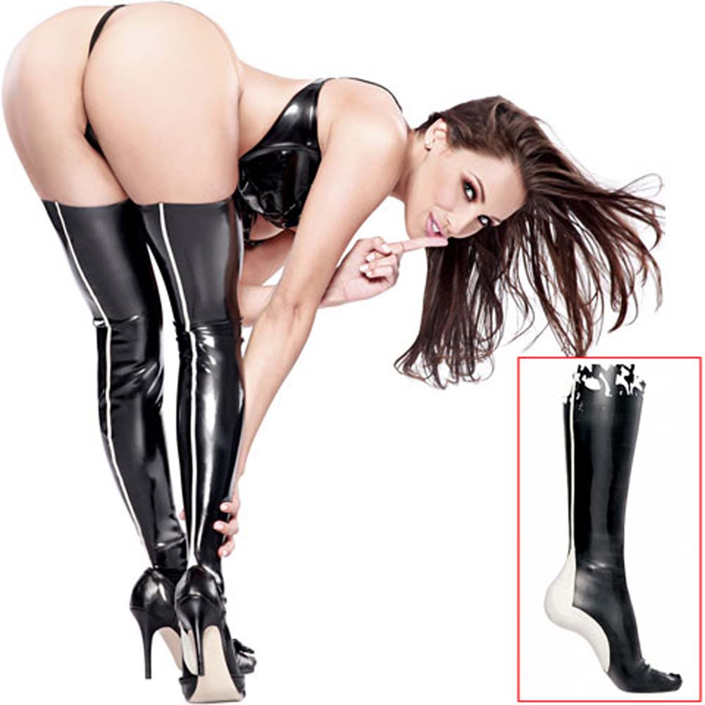 Fetish Fantasy Extreme Latex Leggings Black - View #1