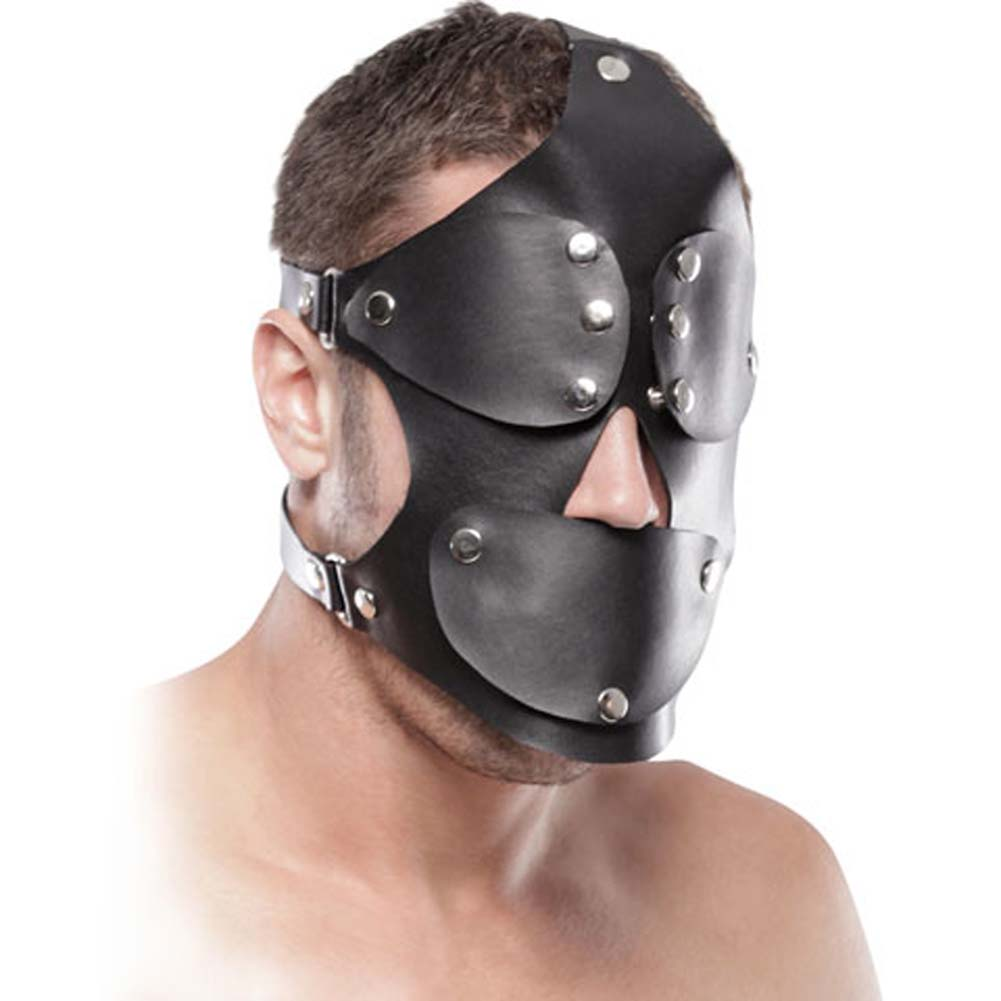 Fetish Fantasy Extreme Gag Blinder Mask Black - View #1