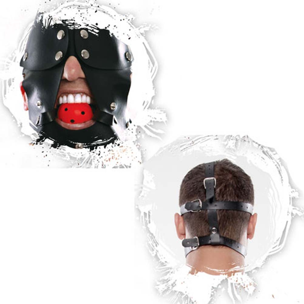Fetish Fantasy Extreme Gag Blinder Mask Black - View #3