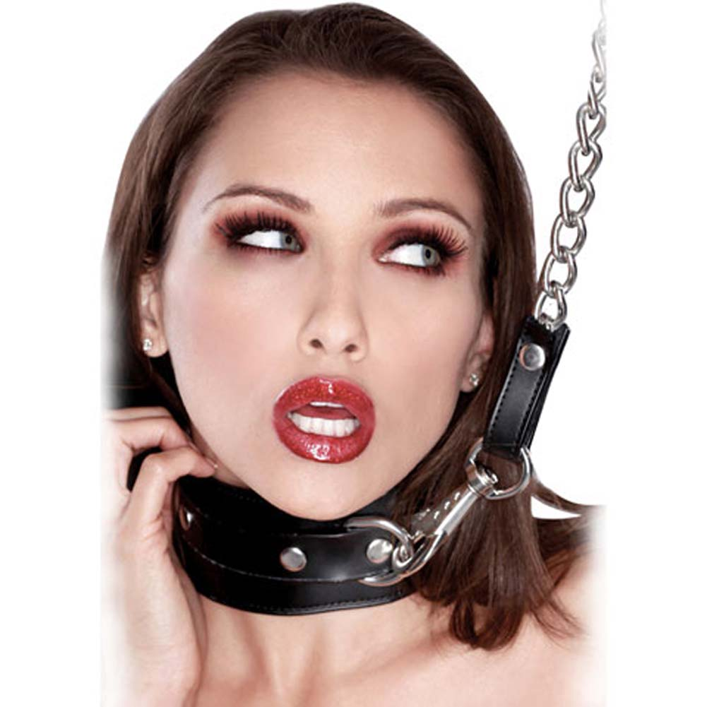 Fetish Fantasy Extreme Heavy Duty Leash and Collar Black. - View #3