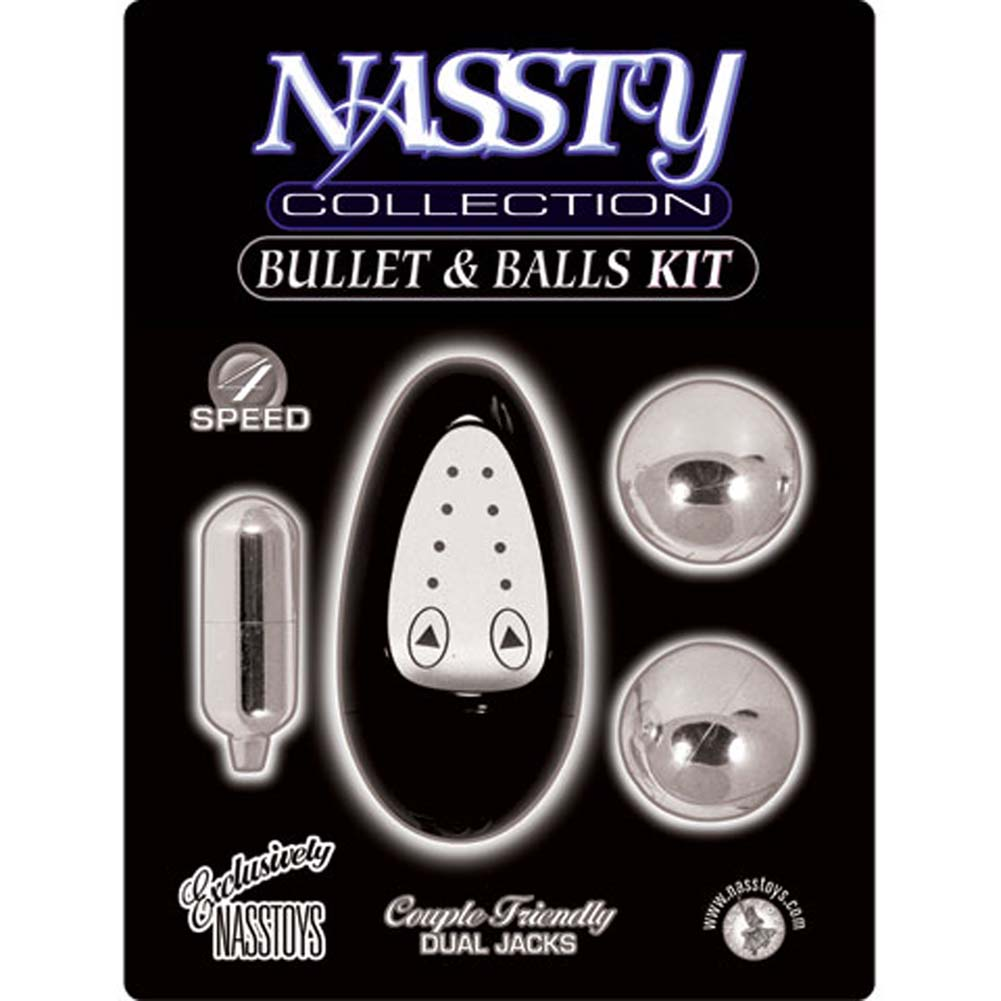 Nassty Collection Vibrating Bullet and Balls Kit for Lovers Black - View #1