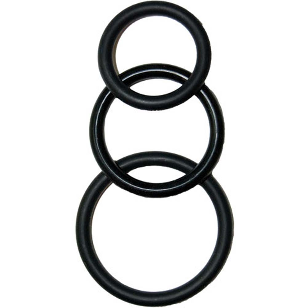 Super Silicone Waterproof Cockrings Kit Black - View #2