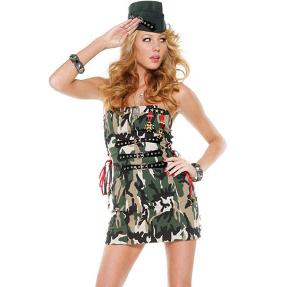 Flirty Soldier Costume Large/ExtraLarge - View #1