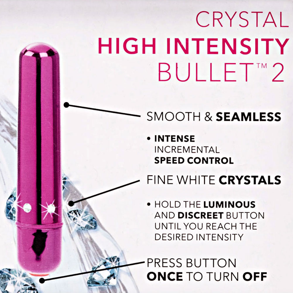 "California Exotics Crystal High Intensity Waterproof Bullet 3.5"" Pink - View #1"