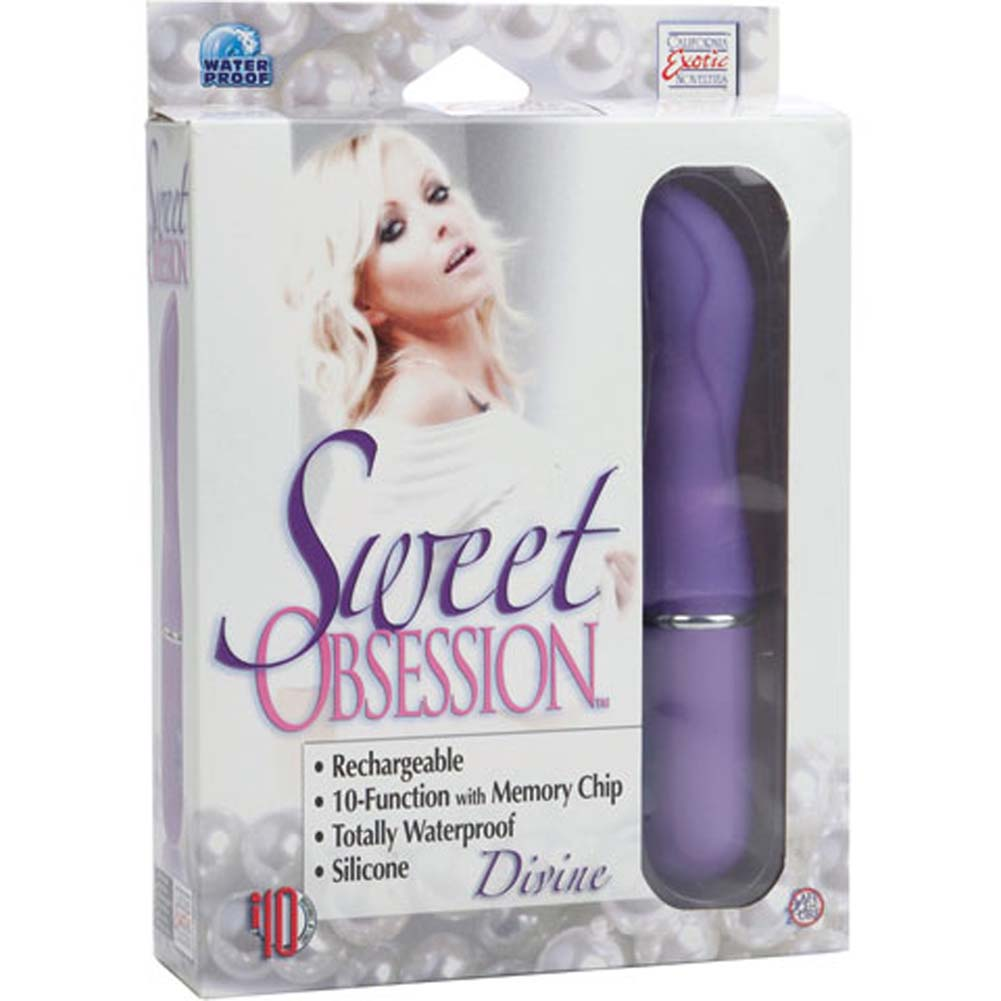 "California Exotics Sweet Obsession Rechargeable Silicone Divine Massager 6.5"" Purple - View #3"