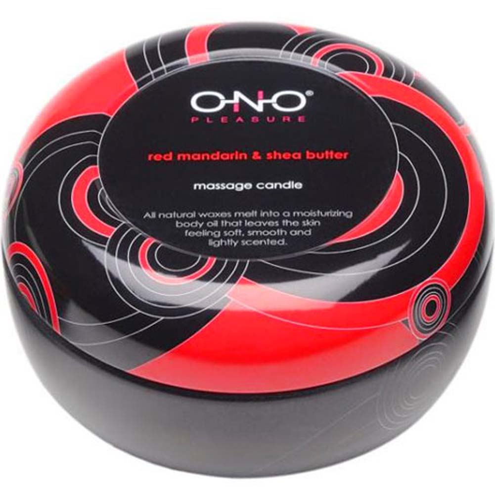 ONO Pleasure Scented Massage Candle Red Mandarin Shea Butter - View #2
