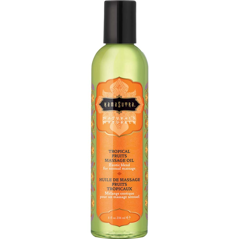 Kama Sutra Aromatic Massage Oil 8 Fl.Oz 236 mL Tropical Fruits - View #1