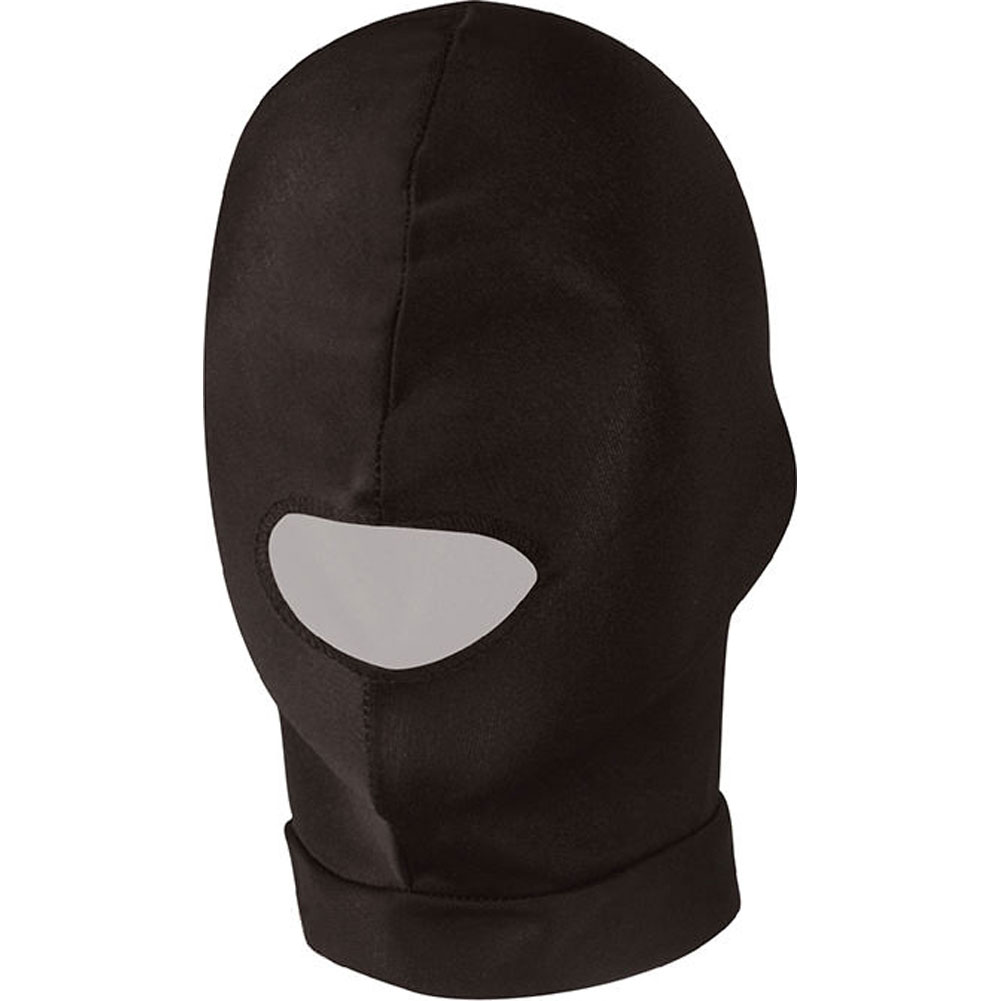 Lux Fetish Open Mouth Stretch Hood Black - View #1