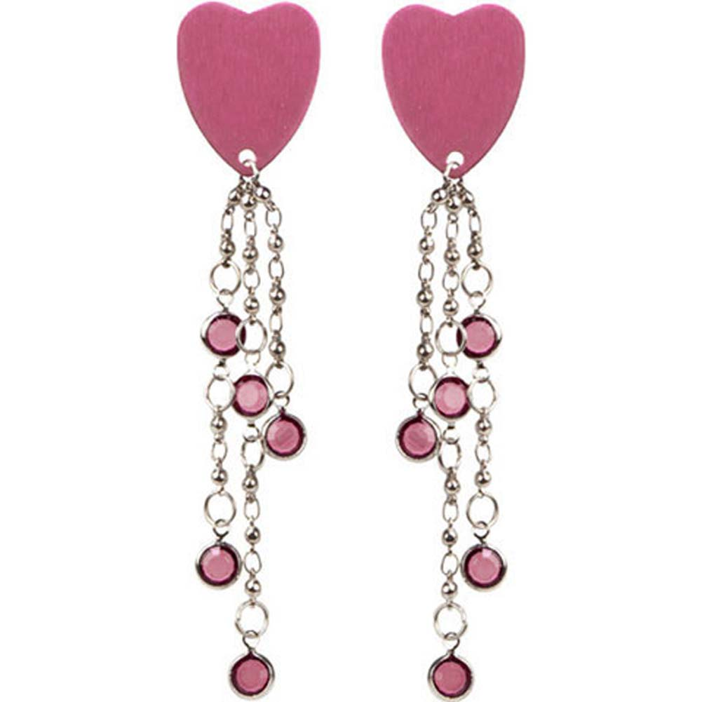 Body Charms Pink Heart Nipple Jewelry Pasties Pink - View #2