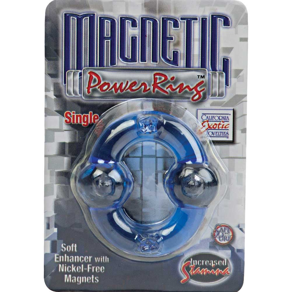 Magnetic Power Ring Single Blue - View #1