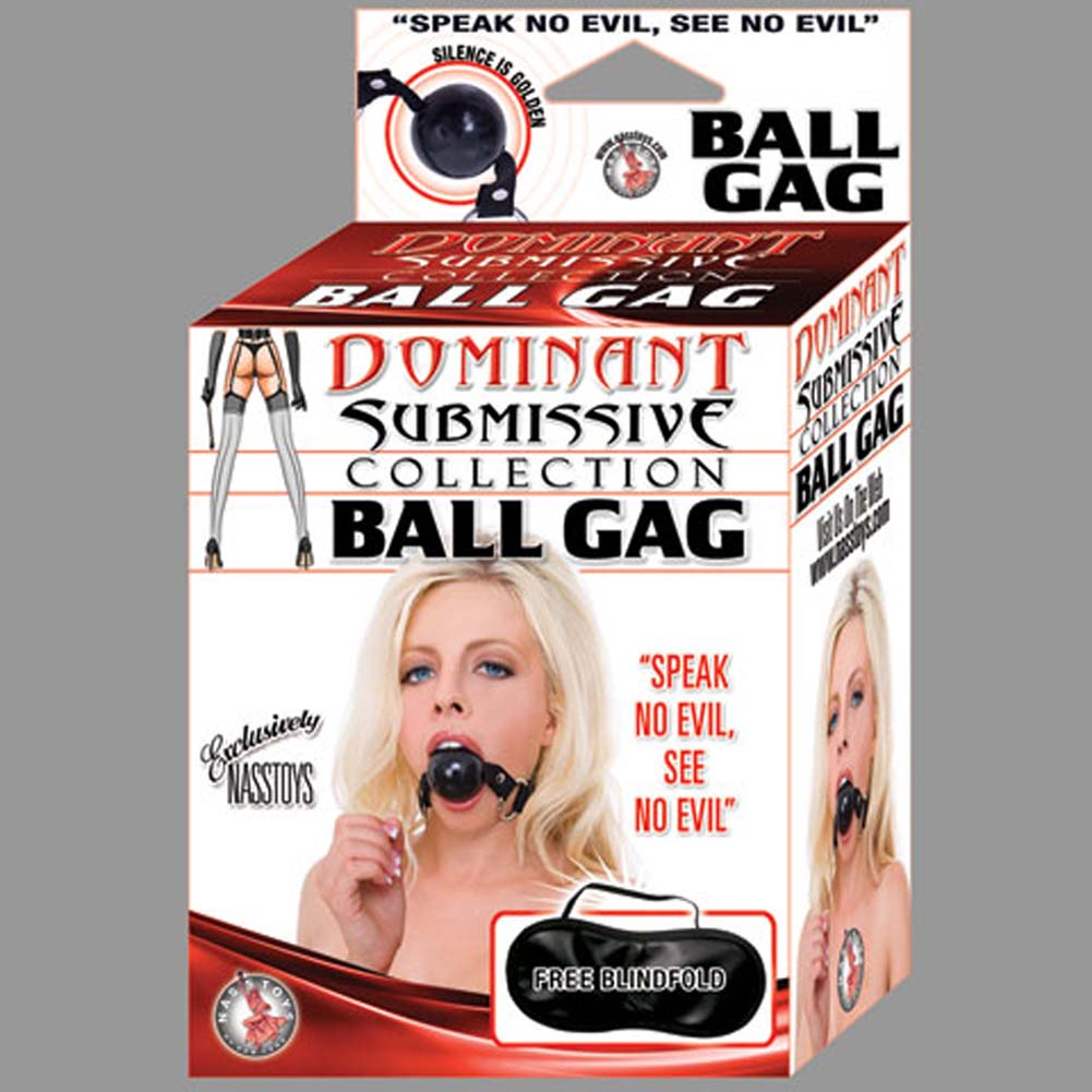"Dominant Submissive Collection Ball Gag 2"" Kinky Black - View #4"