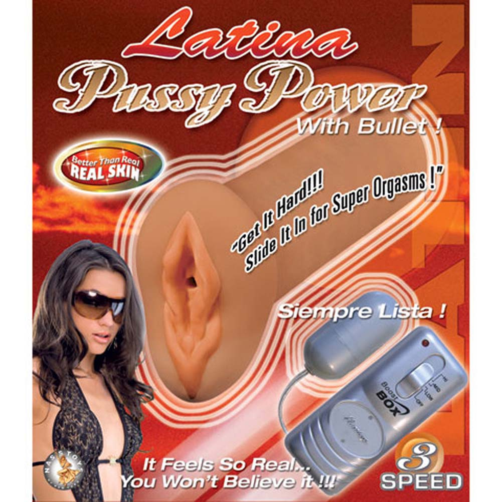 Latina Pussy Power Masturbator with Bullet - View #4