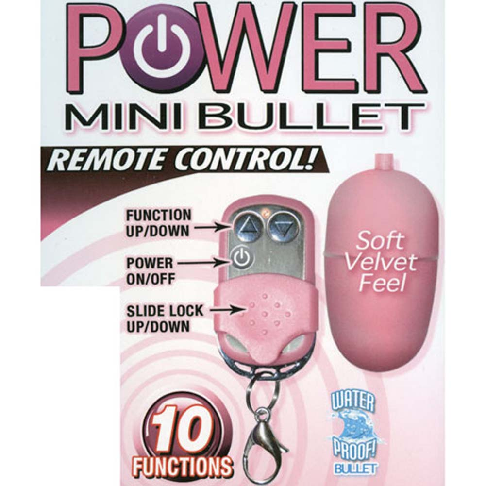 Power Mini Bullet with Wireless Remote Control Pink - View #1