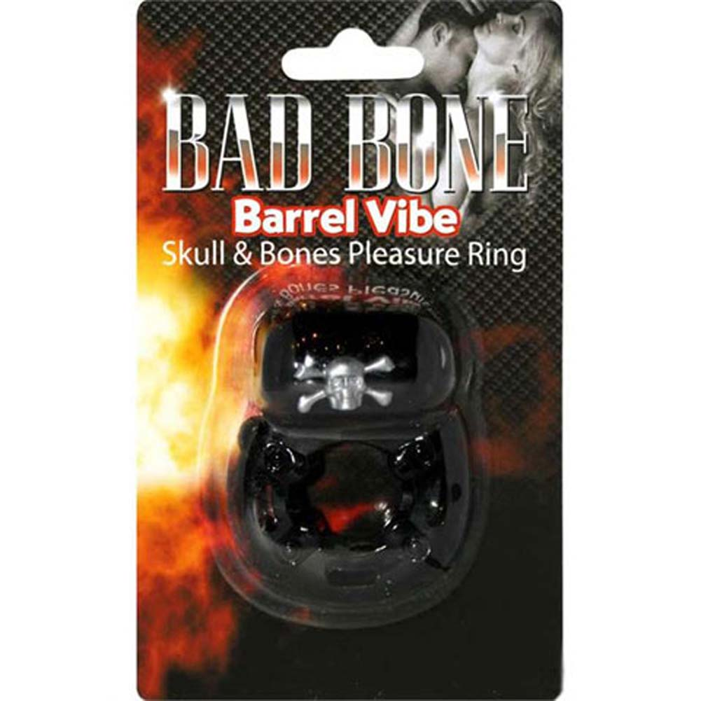 Bad Bone Barrel Vibe Skull and Bones Pleasure Ring Black - View #2