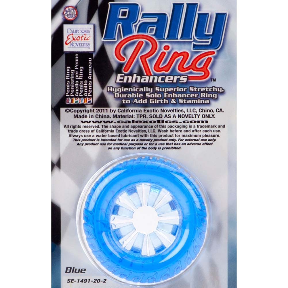 Rally Ring Enhancers Racer Cockring Blue - View #1