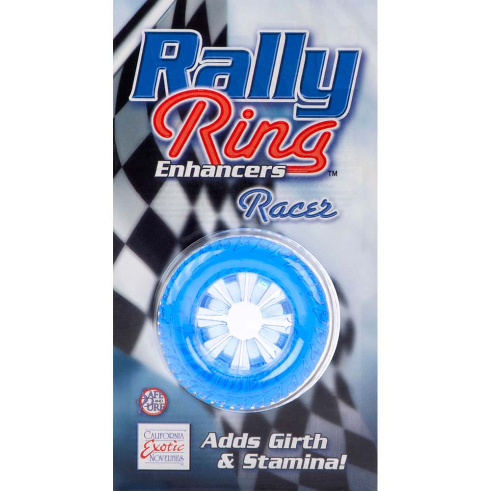 Rally Ring Enhancers Racer Cockring Blue - View #3
