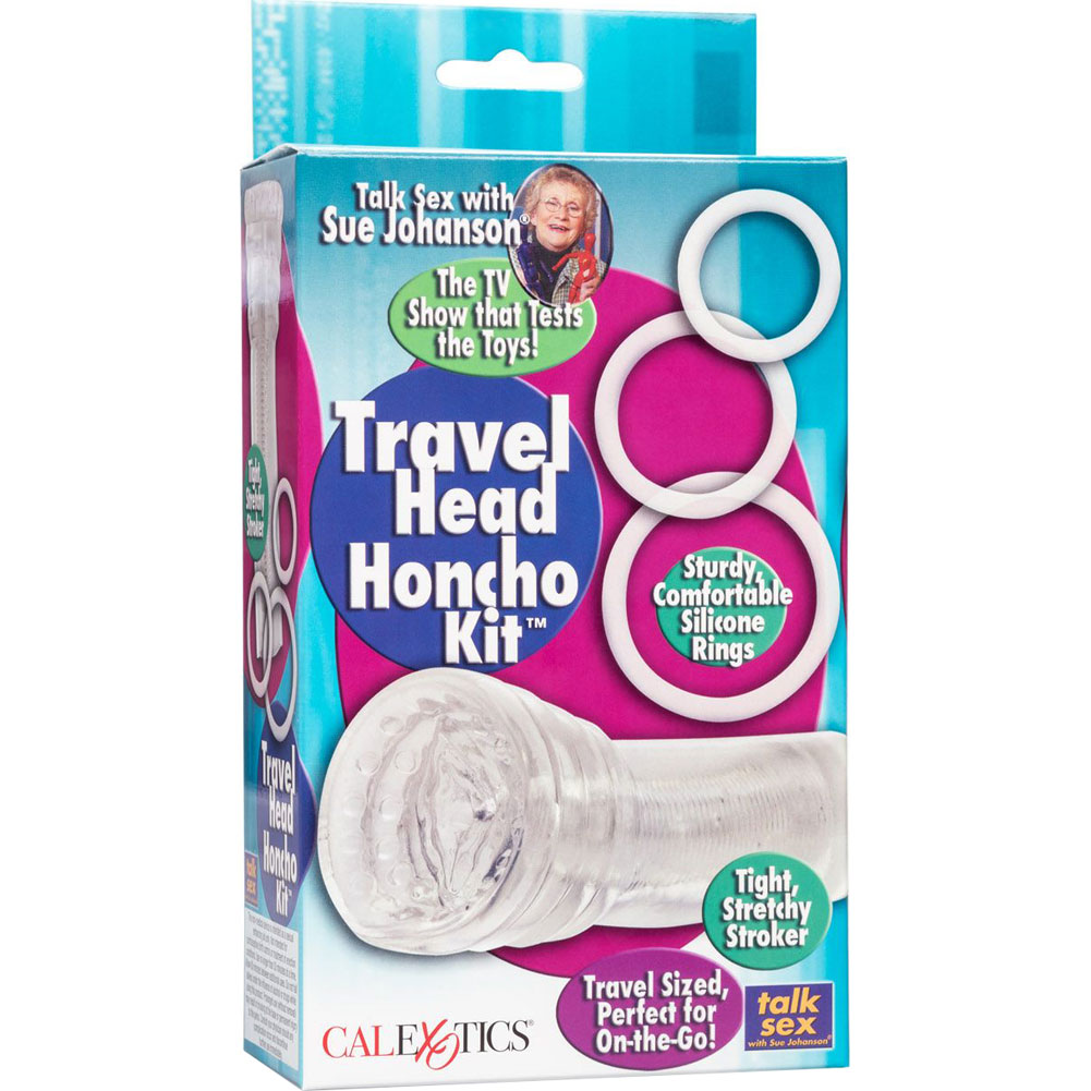California Exotics Sue Johansons Travel Head Honcho Kit with Cock Rings - View #4