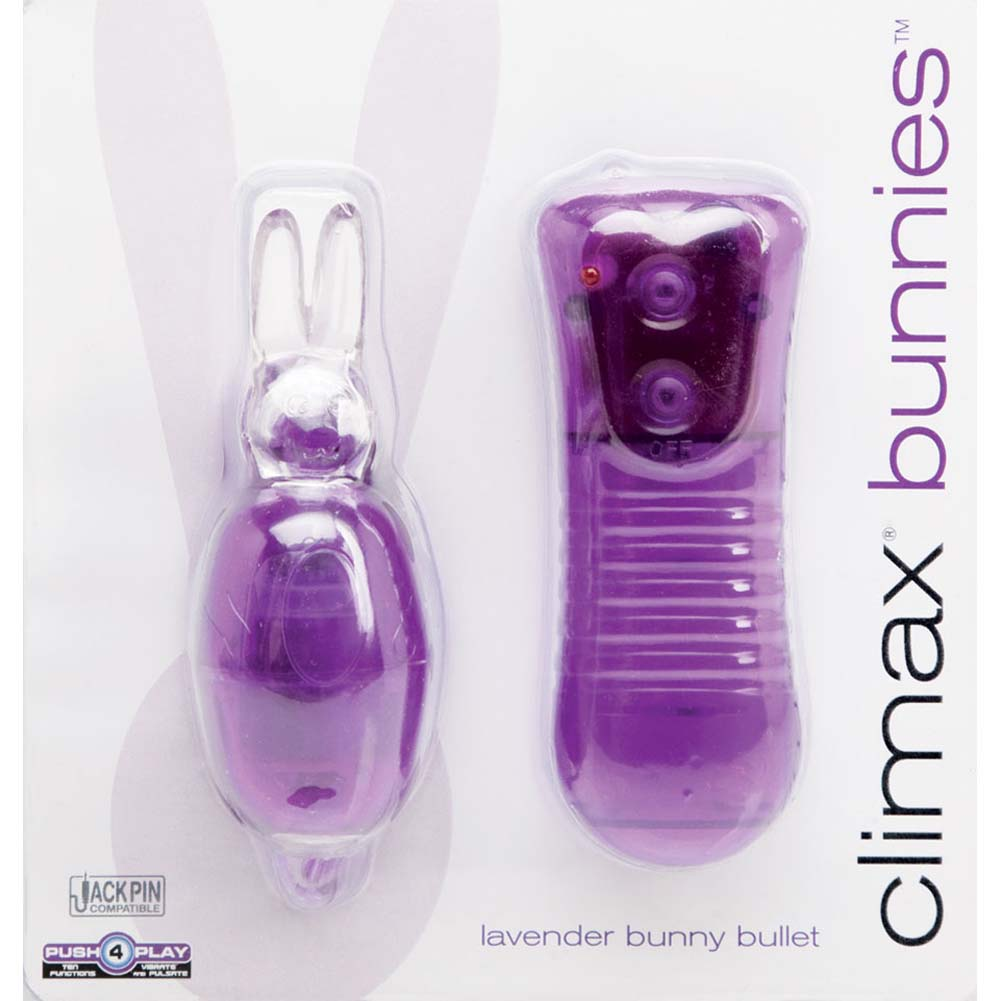Climax Bunnies Vibrating Bullet with Remote Control Lavender - View #1